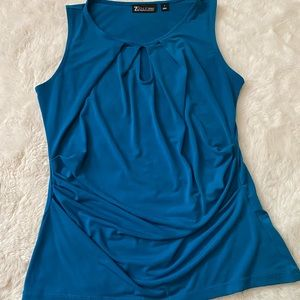 3/$12 New York & Company Ruched Keyhole Tank Top S